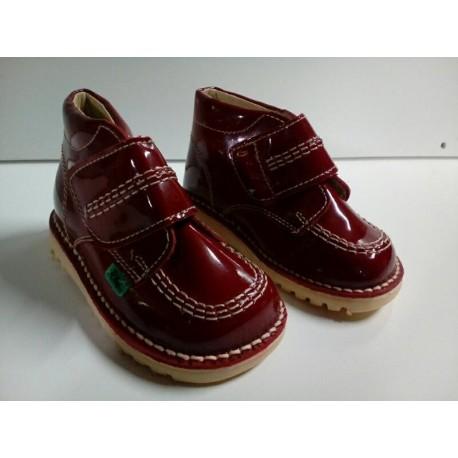 Bota Halley Velcro roja