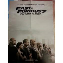 Póster doble: Fast & Furious 7/Ministerio del tiempo