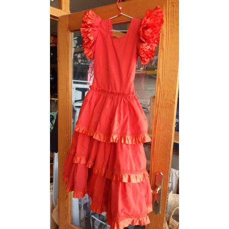 Vestido sevillana rojo.