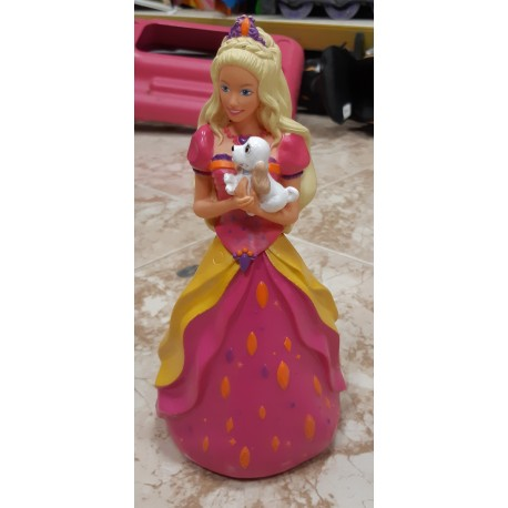 Botella plástico Barbie.