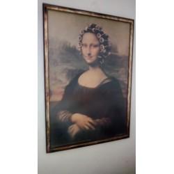 Mona lisa con rulos.