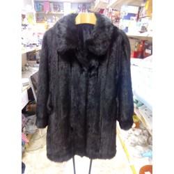 Abrigo largo sintético