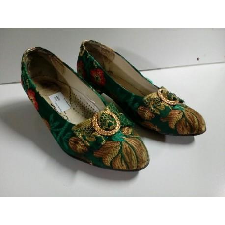 Zapatos fallera verdes