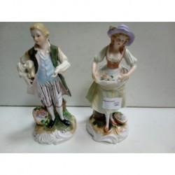 Pareja figuras porcelana