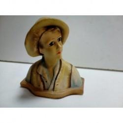 Busto con sombrero