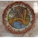 Plato decoración puente.