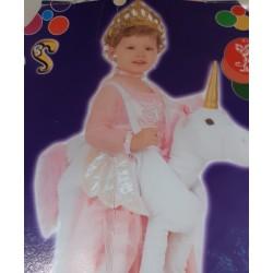 Disfraz de Princesa con unicornio Talla 0