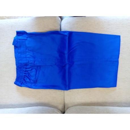 Pantalón sin goma tergal azulin